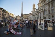 Navonna地方在罗马,意大利 免版税库存照片