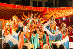 Navratra festival. These are some of the statues inistalled during̱ Navratri  literally `nine nights`, also called Vasanta Navaratri near spring equinox March Stock Photos