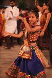 navratri的fastival印度舞蹈家 免版税图库摄影