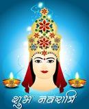Navratri Card Design. Vector illustration royalty free illustration