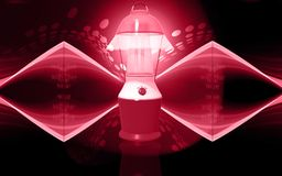 Navulbaar floured lantaarn royalty-vrije illustratie