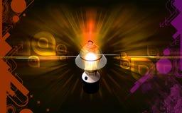 Navulbaar floured lantaarn vector illustratie