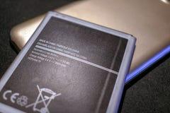 Navulbare Lithium Mobiele Batterij met Gedrukte Specificaties royalty-vrije stock foto