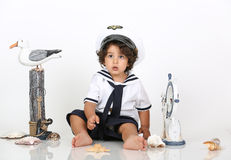 Navy beach boy Royalty Free Stock Photography