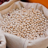 Navy bean. Mass navy bean in bag Royalty Free Stock Photos