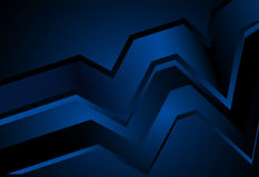 Navy Blue abstract curve and wavy background Royalty Free Stock Photos