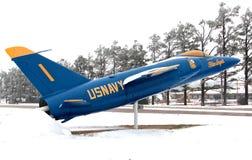Navy Blue Angel Jet royalty free stock photos