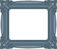 Navy Blue Baroque Frame. Navy Blue Baroque Frame isolated on white background. Vector Illustration Royalty Free Stock Photos