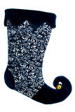 Navy blue christmas boot Royalty Free Stock Images