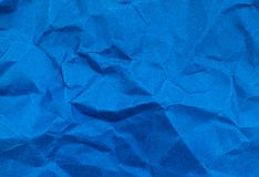 Navy blue color crumpled paper texture background Royalty Free Stock Photo