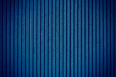 Navy blue corrugated sheet metal Stock Image