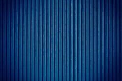 Navy blue corrugated sheet metal Stock Image