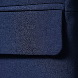 Navy blue cotton textile for background closeup of jacket pocket Royalty Free Stock Image