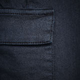 Navy blue denim textile for background closeup of pocket Royalty Free Stock Photography