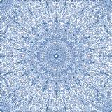 Navy Blue Floral Mandala Seamless Pattern Stock Photo