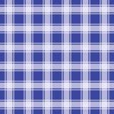 Navy blue gingham pattern, geometric background vector illustration