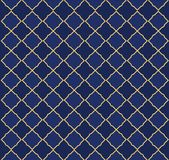 Seamless arabic pattern. Can be use for royal party backdrop.boy baby shower, birthday, father`s day, wedding. Navy blue and golden background. Little prince stock illustration