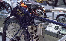 Navy blue 1902 Indian Camelback motorcycle Royalty Free Stock Photography
