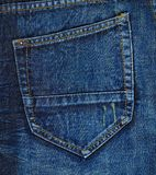 Navy blue jeans back pocket Royalty Free Stock Image
