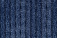 Navy Blue knitting wool texture for pattern and background Stock Image