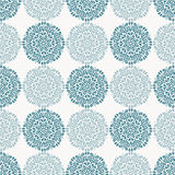 Navy blue lace flower pattern on white background Stock Images