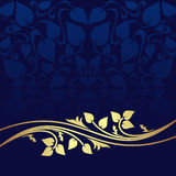 Navy blue ornamental Background. Stock Photo
