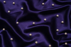 Navy blue with pearls background Stock Image
