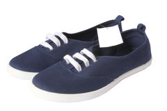 Navy Blue shoes Royalty Free Stock Photo