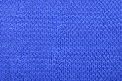 Navy blue towel background texture. Stock Photography