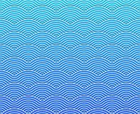 Navy blue vector curvy waves pattern stock photography