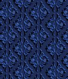 Blue Luxury Decorative Wallpaper, Ornamental Texture Background Royalty Free Stock Images