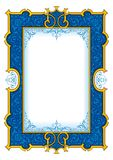 Navy Blue Vintage Frame №1003 royalty free illustration