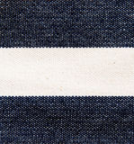 Navy blue and white striped canvas texture. Stock Image