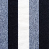 Navy blue and white striped cotton polyester texture Stock Images