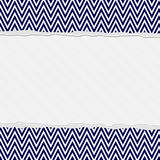 Navy Blue and White Torn Chevron Frame Background Royalty Free Stock Photos