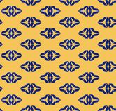 Navy blue and yellow geometric seamless pattern with triangular shapes royalty free illustration