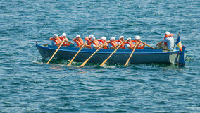 Navy boat sailor paddle Royalty Free Stock Photo