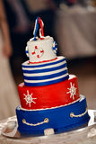 Navy cake Royalty Free Stock Images
