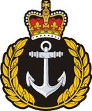 Navy cap badge Stock Photos