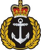 Navy cap badge stock illustration