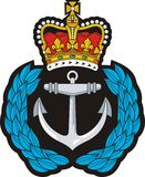 Navy cap badge Royalty Free Stock Images