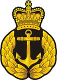 Navy cap badge Stock Images