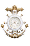 Navy clock. Navy anchor clock isolate on white background Royalty Free Stock Photo
