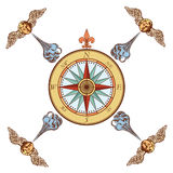 Navy compass rose Royalty Free Stock Photo