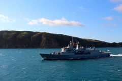 Navy on the cook straight of New Zealand Royalty Free Stock Image