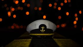 Navy Cover with Sparks Background stock images