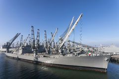 Navy Crane Ship Stock Images