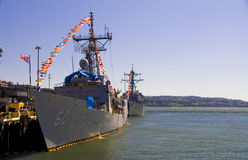 Navy Destroyer Battle Ships Royalty Free Stock Photo