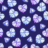Navy diamonds watercolor seamless vector pattern Stock Photo