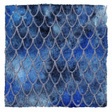 Dragon skin scales blue sapphire silver vector pattern texture background Stock Photos